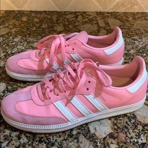 Adidas samba pink and white!